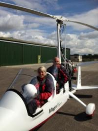The Gyrocopter Grin is the trademark of The Gyrocopter Experience and represents the huge smile that people get when they fly in a Gyrocopter